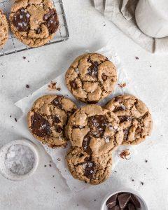 Vegan Tahini Chocolate Chunk Cookie Recipe